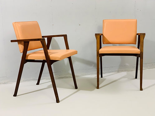 Mid Century Pair of Franco Albini Chairs