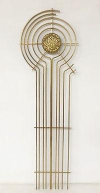 1970's Brass wall sculpture