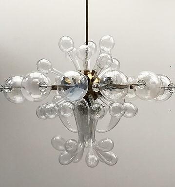 Mid Century Modern Glass Chandelier