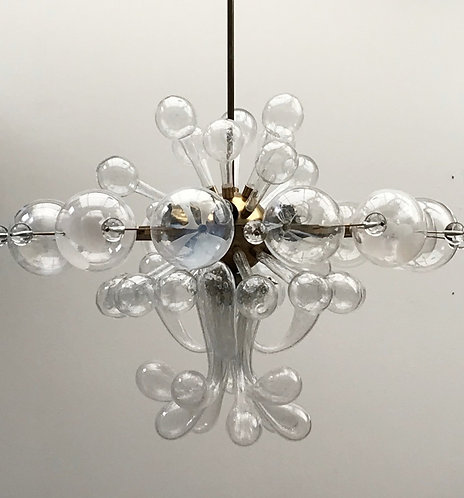 Mid Century Modern Glass Chandelier