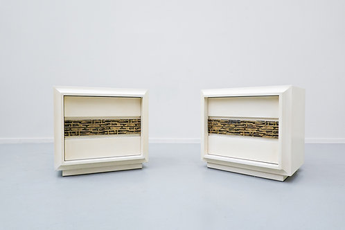 1970's bedside tables by Luciano Frigerio