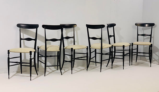 Set of 6 1950's Chiavari Chairs