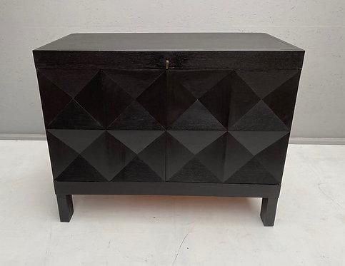 Black Graphic Cabinet by De Coene wide
