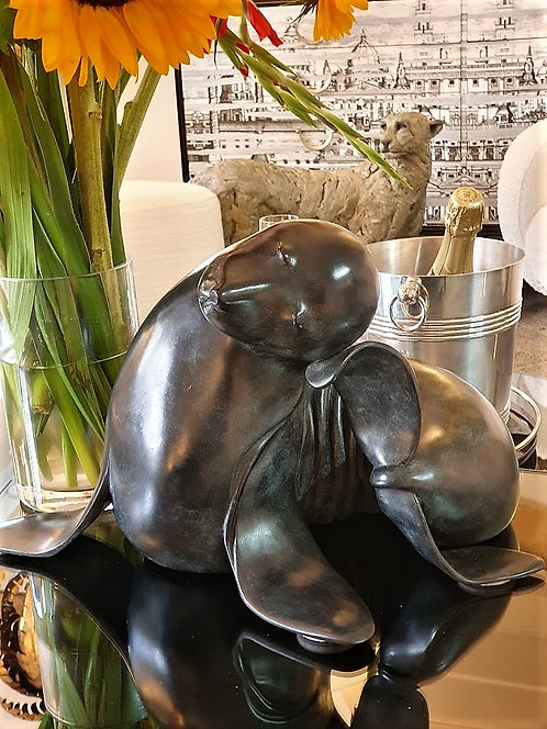 "Bronze sculpture "" The Beautiful Sea Lion"" by Isabelle Brizzi"