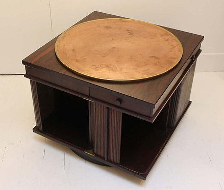 Mid century rotating coffee table