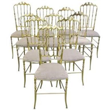 Set of Mid Century Modern Chiavari Chairs