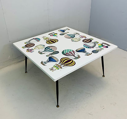 'Mongolfiera' Piero Fornasetti Square Coffee Table