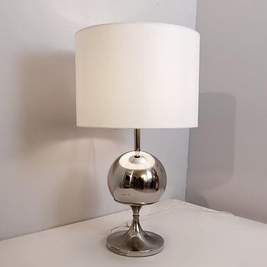 """1970's Chrome """"Globe"""" Lamp"""