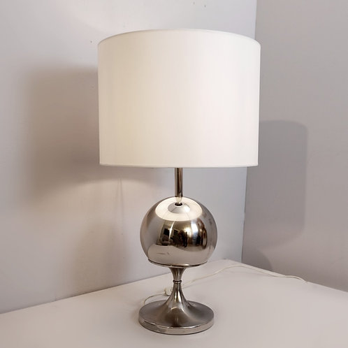 "1970's Chrome ""Globe"" Lamp"