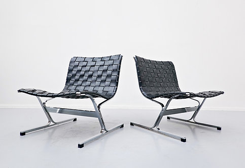Pair of Mid Century Chairs by Ross Littel