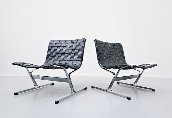 Pair of Mid Century Lounge Chairs by Ross Littell