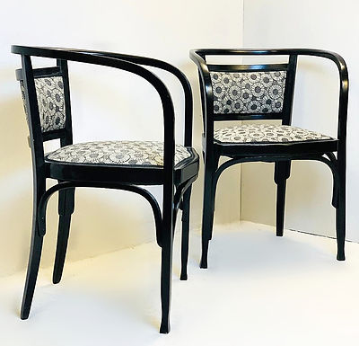 Pair of Mid Century Armchairs by Otto Wagner