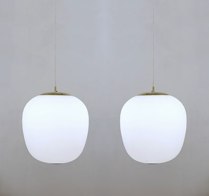 1950's Opaline Pendant Lights