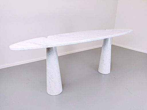 Console In White Marble Model ''Eros'' By Angelo Mangiarotti