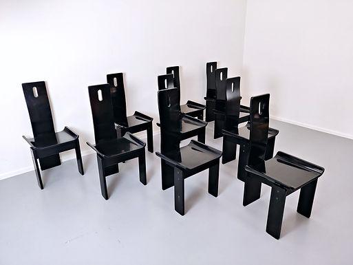 Set Of 10 Italian Chairs, 1960s
