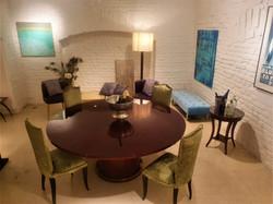Circular Mid Century Dining Table