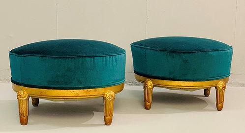 Art Deco Pouffs