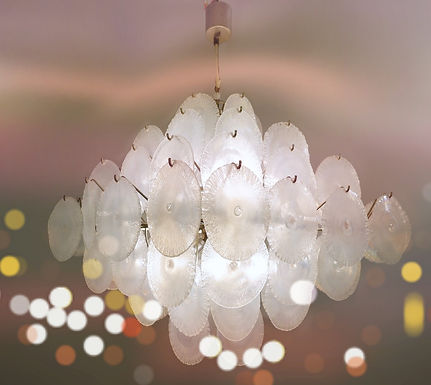Chandelier with Murano Glass Discs by Aldo Nason