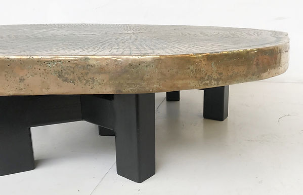 Contemporary Bronze Tree Trunk Coffee Table