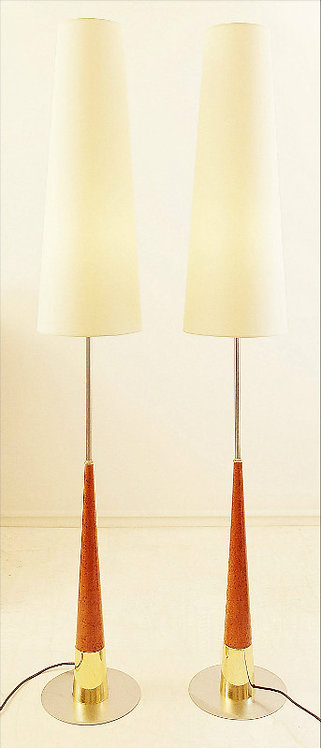 Pair of Tall Mid Century Modern Floor Lamps