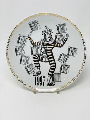 Commemorative Calendar Plate by Fornasetti, 1997