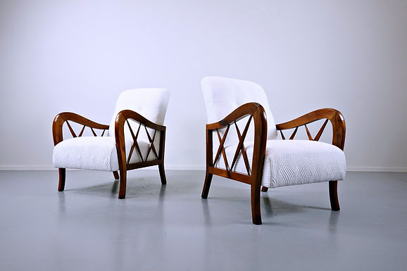 Pair Of Armchairs In The Style Of Paolo Buffa