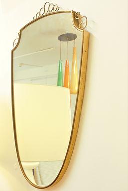1940's Italian Mid Century Mirror
