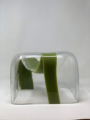Sculptural Murano Glass Vase by Carlo Nason for Mazzega, Italy, 1970s