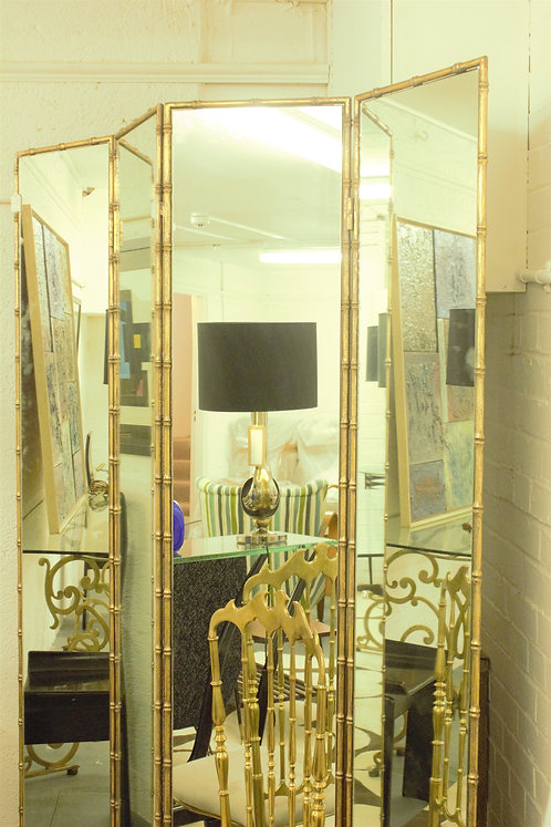Mid Century Modern Mirrored Screen