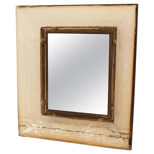 Mid Century Modern Mirror by Carlo Scarpa Wide