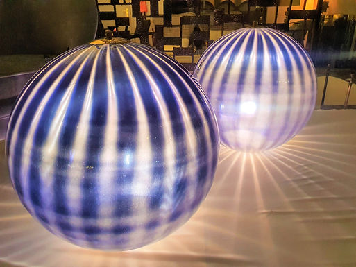 """Pair of Large Murano """"Bauble"""" Lamps"""