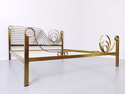 Mid Century Modern Bed by Frigerio Wide