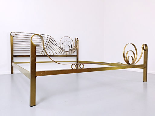 Mid Century Brass Bed by Luciano Frigerio c. 1960