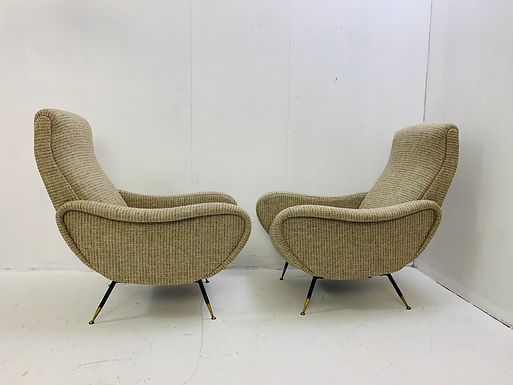 Pair of Armchairs in the Style of Marco Zanuso,