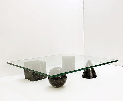Massimo & Lella Vignelli 'Metaphora' Coffee Table In Black Marble