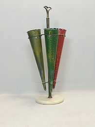 1950's Brass and Marble Umbrella Stand