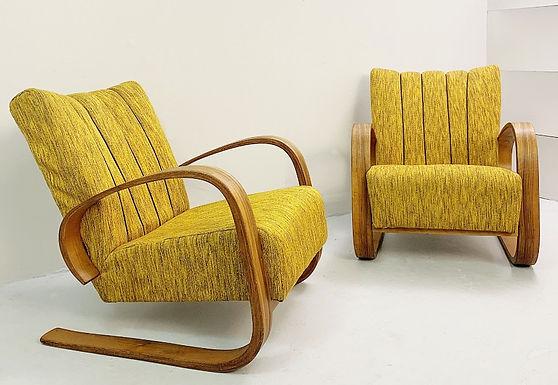 Pair of Mid Century Modern Armchairs (Czech)