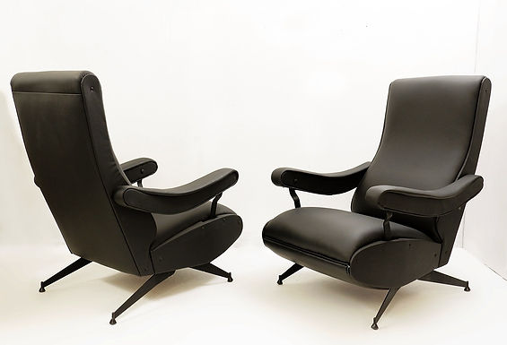 """Oscar"" Reclining Armchair By Nello Pini For Novarredo, 1959"