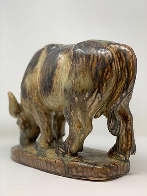 Ceramic Bull Sculpture by Knud Kyhn for Royal Copenhagen