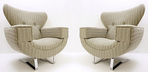 Large Armchairs With Chrome Legs