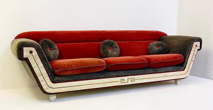1970's italian sofa in travertine
