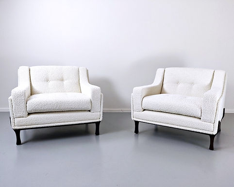 Pair Of Italian Armchairs, New Upholsetry