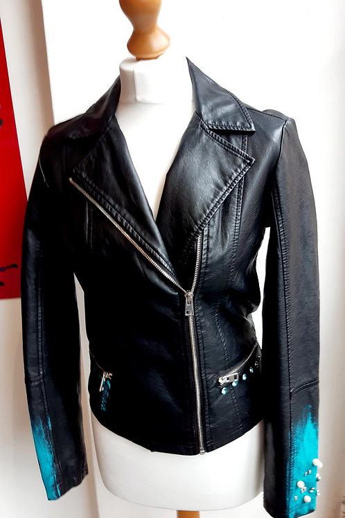 Black/ torq leather