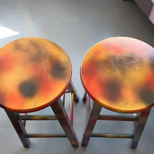 Grafitti stools