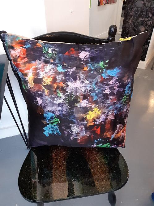 Black multi cushion