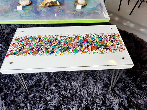 Glass splash table