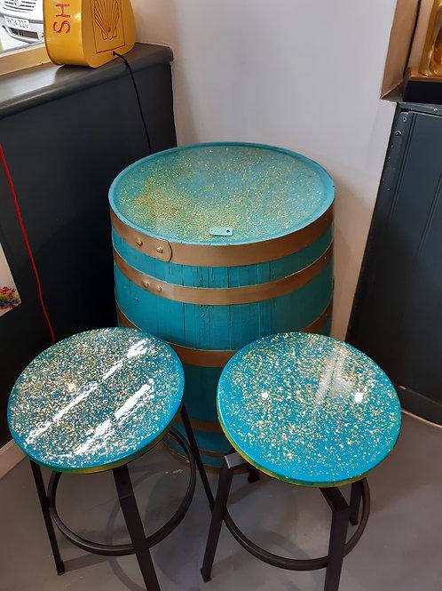 Barell 2 x stools