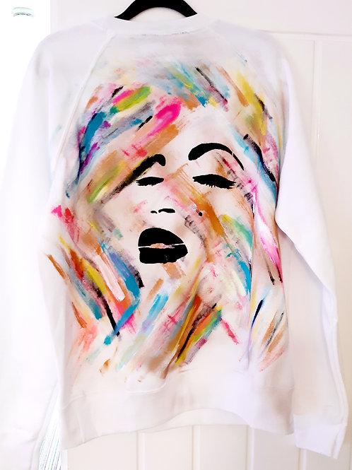 Splash face sweatshirt