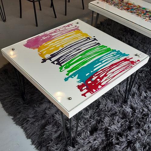 Square drizzle table
