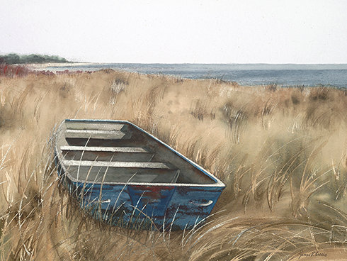Boat in the Reeds (original)